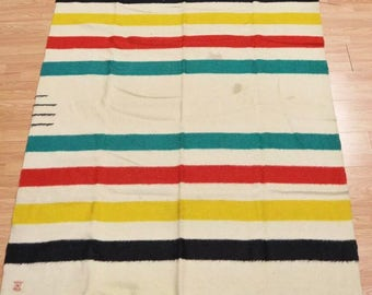 Early 20th C. Hudson's Bay 3.5 Point Blanket