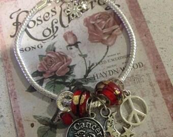 Cancer's charm bracelet