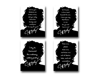 4 Jeff Buckley Quote Art Prints