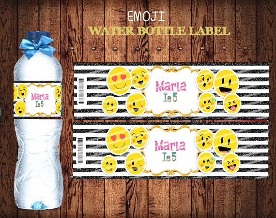 Emoji Personalized Bottle Label