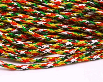 Multicolor Nylon Rattail Cord, Jewelry Making Bracelet Cord, String Kumihimo Crafts, Knot Beading Cord, By 9 Yards MT134A