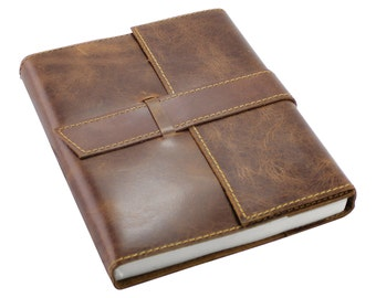 Genuine Leather Refillable Journal