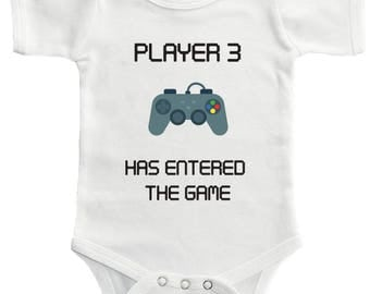 Player 3 Has Entered The Game Bodysuit - Cute Funny Baby Clothing For Baby Boys And Baby Girls, Adorable One-Piece Outfit