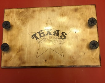 Customized Wood Burned Serving Tray