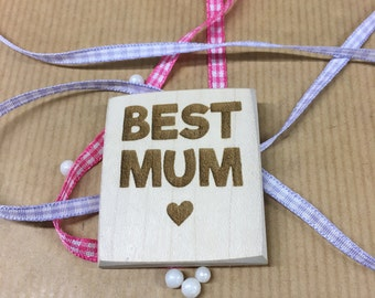 BEST MUM Fridge Magnet Laser engraved wooden