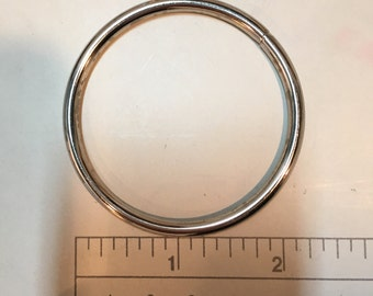 Set of 5, 2 inch Stainless Steel O-Rings Nickel Finish
