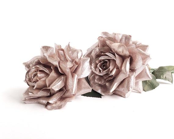 Rose Gold Flower, Silk Flowers Wedding, Rose Gold Blossom