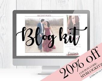 Heidi Waight | Feminine Blog - website kit | branding kit | logos |