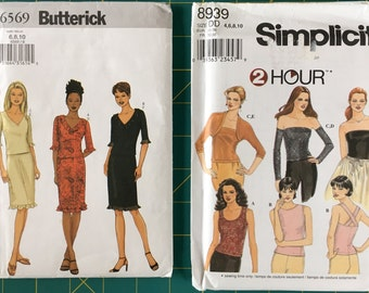 Sizes 6-8-10 Lot of Two Sewing Patterns for KNITS