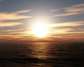 Sunrise, artistic photography decorative.