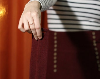 Red skirt handmade bib