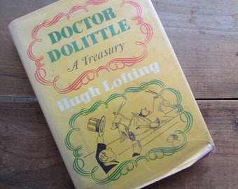 Doctor Dolittle A Treasury Dr Dolittle by Hugh Lofting 1967 3rd Printing Ex Library Copy