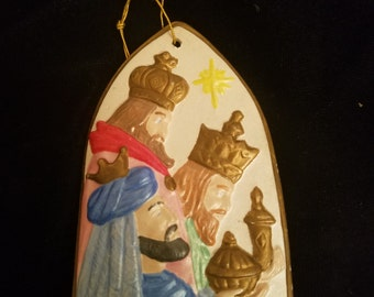 Vintage Three Wise Men Christmas Ornament - Hand Painted