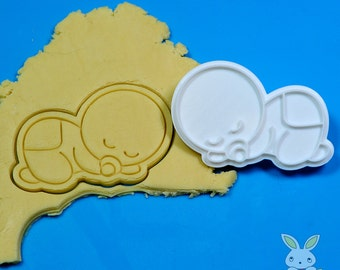 Sleeping Baby Cookie Cutter and Stamp Set