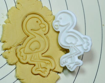 Flamingo Cookie Cutter and Stamp