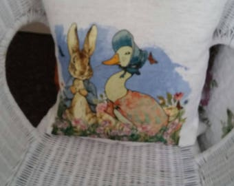 Peter rabbit and Jemima  puddleduck cushion