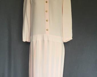 Vintage 40s or 50s Drop Waist Dress