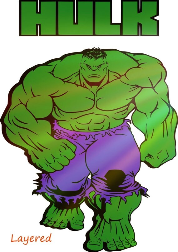 Hulk Layered Svg Hulk Svg Hulk Svg Made For Cricut And