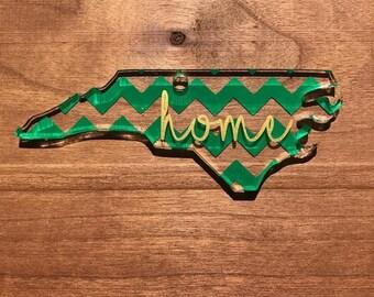 "Acrylic North Carolina ""home"" Keychain"