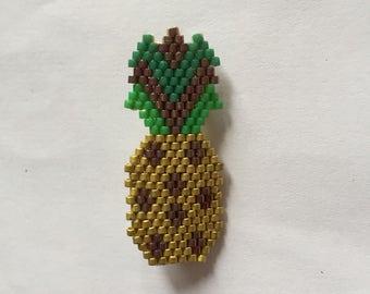 PIN pineapples in miyuki beads