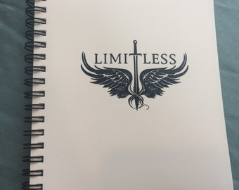 Official Limitless Logo Pocket Notebook White with Black Logo