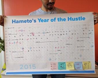 Custom 2017 wall calendar (365 day view)