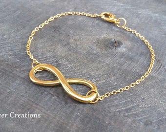 Infinity bracelet bracelet infinity, Friendship Bracelet, mother's day, forever love, Golden Ininity bracelet, gold bracelet, gift