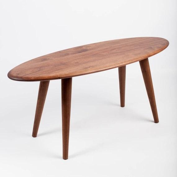 Handmade Mid Century Coffee Table: Mid Century Coffee Table. Surfboard Design. Handmade From