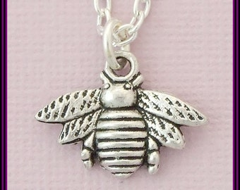 Silver Plated Necklace with Bee Pendant