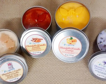 Natural Candle Made With Soy Wax and Genuine Wood Wick / Eco Candle Soy
