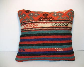 Home Design, Rug Cusion,Turkish Pillow, Najova Pillow,Hippie Pillow, Bohomian Pillow, Kilim Pillow Cover, Pillow Cover, Striped Pillow, a67