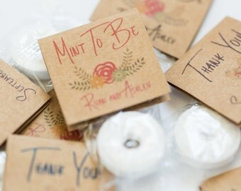 30 Personalized Mint To Be Lifesaver Mints And Attached Kraft Tags Custom Wedding