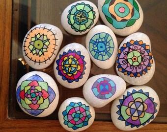 Mandala Stones (set of ten)
