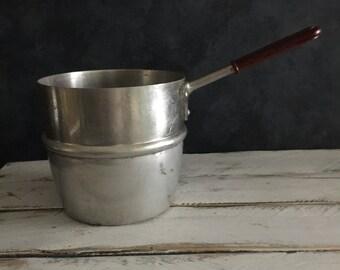 Vintage aluminium saucepan, food photography prop, food styling prop