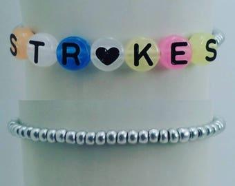 The Strokes Band Bracelet / Handmade / Reptilia / Last Nite / Is This It / Indie Rock / Alternative / Vintage 90s / Kitsch / Jewelry