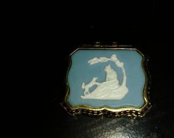 Vintage Creme Perfume Compact Max Factor Hypnotique Fragrance The Wishing Tree Mini .11oz
