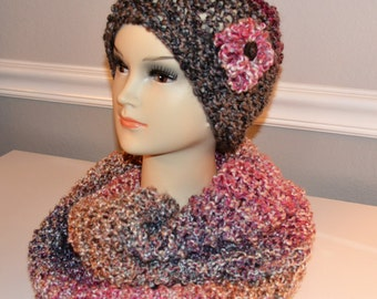 Infinity Scarf and Matching Hat