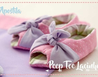 Little Bow Peep Toe Shoe Ebook-PDF-Sewing Baby Shoes Pattern