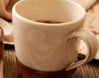 Straight sided mugs // coffee cup // tea cup // handmade mug // pottery mug // cosy cup // terracotta mug