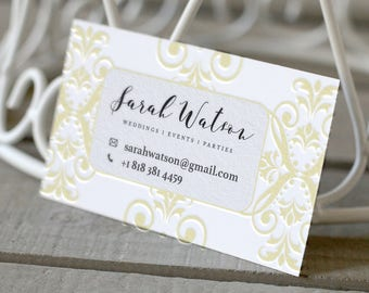 Two color Letterpress Business Card Design and Print, Business Card, Custom Letterpress Business Cards