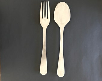 Fork and spoon wall art Etsy