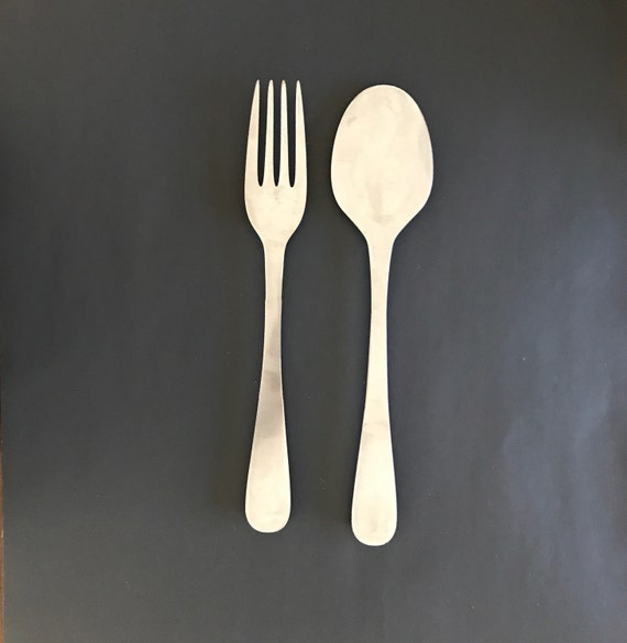Fork And Spoon Wall Decor Metal Kitchen Decor Metal Spoon