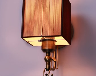 Esprit Fabric and Metal Wall Lamp