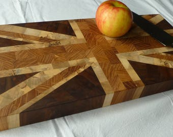 Union Jack Endgrain Cutting Board