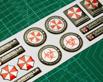 Resident Evil Umbrella Corporation 3d domed stickers 13pcs