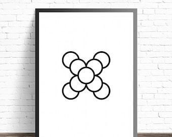 BUY 1 GET 1 FREE! - Modern Minimalist - Black Minimalist Poster - Abstract Art Print - Black And White Art - Abstract Art - Minimalist Print
