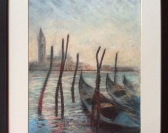 Venice lagoon Pastel Picture