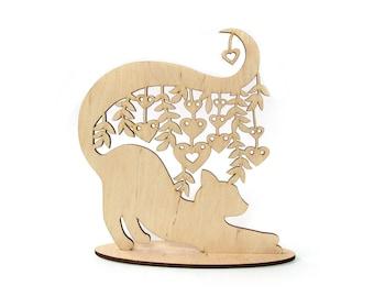 3D Girl wood Jewelry holder laser cut Wood Holder Jewelry