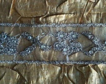 Rita's Gorgeous Pewter Lace with a Touch of Sparkle-Bridal