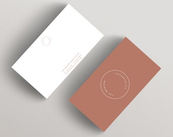 Modern Copper | Minimalist Business Card Template | Business Card Template